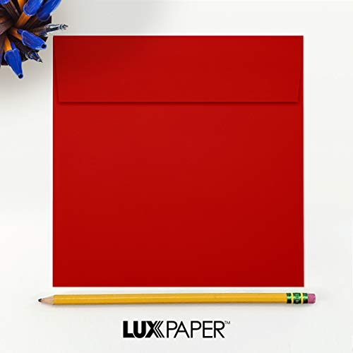 6 1/2 x 6 1/2 Square Envelopes - Holiday Red (50 Qty)   Perfect for Invitations, Announcements, Greeting Cards, Photos   8535-15-50 Photo #3