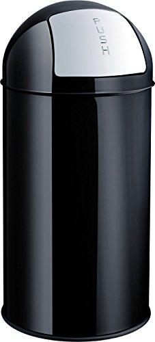helit h2401795 Poubelle en métal noir 30 L