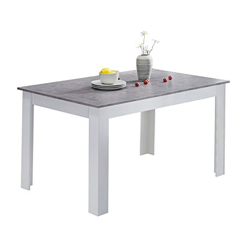 CLIPOP Wooden Kitchen Dining Table,Top 138 cm x 90 cm, Rectangle 4-6 Seater Kitchen Table Modern Dining Room Furniture