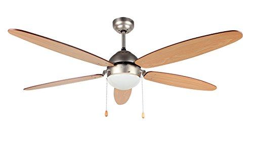 Orbegozo CP 48132 Plafondventilator met licht, 5 vleugels, diameter 132 cm, vermogen 60 W, 3 snelheden