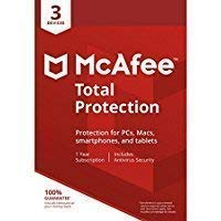 Mcafee Total protection 3 Device 2019 (Download link and activation key via Amazon Message on same day purchase)