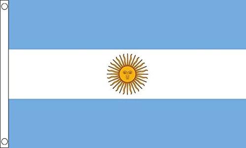 Argentinië Vlag 5ft x 3ft