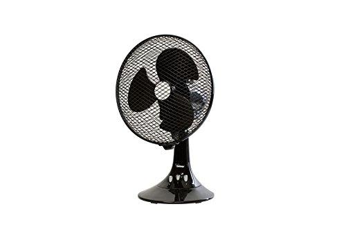 Ventilatore Da TAVOLO Bimar VT266.NE Ø 21 cm 2 Velocita' Inclinazione ± 20° Oscillazione Sx/Dx 90° Colore Nero - NOIR SERIES