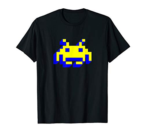 3D Neon Space Invader T-shirt, 5 Colors, Adult and Youth Sizes up to 3XL