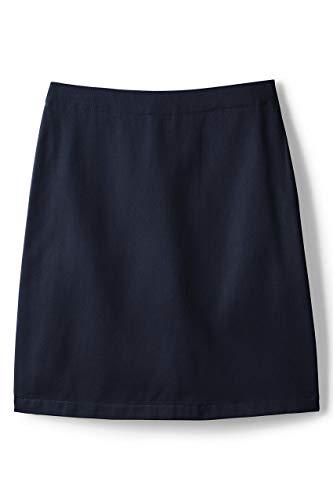 Lands' End School Uniform Little Girls Blend Chino Skort Top of Knee 6 Classic Navy