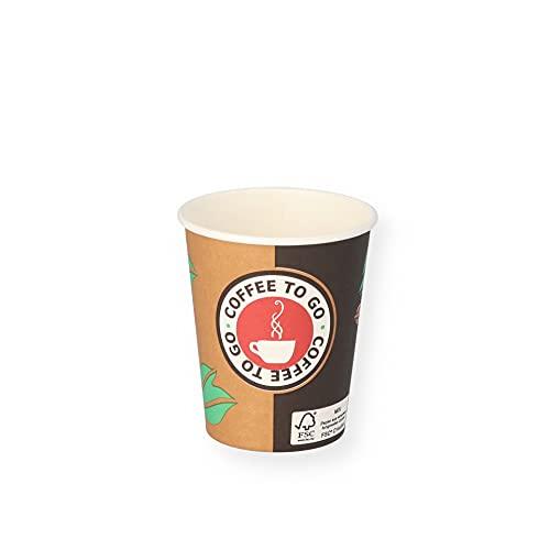 1000 Hartpapierbecher Coffee to Go Pappbecher 0,2l
