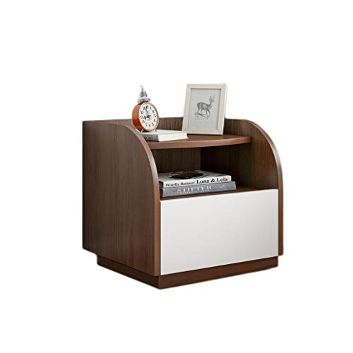 Bedside table JT Bedroom Locker, Bedroom, Living Room Locker, Living Room Sofa Side Cabinet durable (Color : Walnut color)
