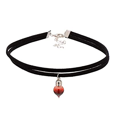 Vampire Blood Vial Double Layer Cord Choker Necklace