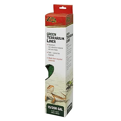 Zilla Reptile Terrarium Liners Green 15/20H/30X Gallon