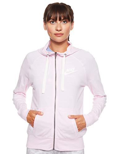 NIKE W NSW Gym VNTG Hoodie FZ Sudadera, Mujer, Pink Foam/Sail, M