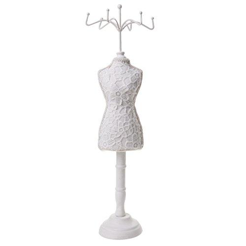 Sharplace Modepuppe, Schmuckhalter, Schmuckständer aus Harz - Weiß