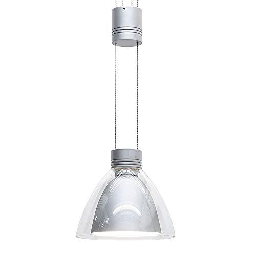OLIGO Pendelleuchte PULL-IT / 1 flammig chrom matt max. 50W mit Berührungsdimmer Schirm transparent