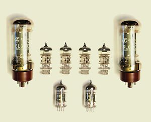 Jellyfish Audio 6l6,12ax7& 12AT7Kit de válvula para amplificadores de guitarra Fender Twin...