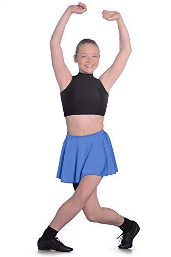 Dancewear Central Roch Valley LCSS Falda Circular Corta de Nailon y Licra para Mujer, niña Mujer, LCSSRYS, Azul Real, 3-6 años