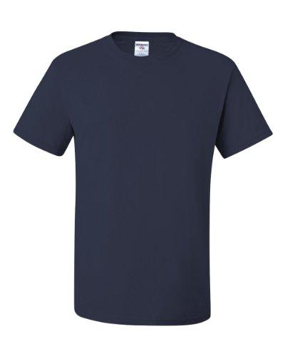 Jerzees Dri-Power T-Shirt für Erwachsene, schwere Mischung, Größe XXL, True Navy
