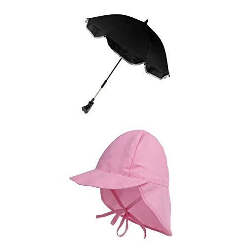 Bonarty Baby Summer Beach Sun Hat + Parasol Cochecito Cochecito Cochecito Parasol