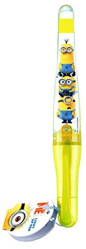 Ballonheld Light Up Pen Minions beleuchteter Kugelschreiber gelbu, Leuchtend rot