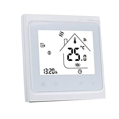 WiFi Smart Thermostat, Winner temperatuurregelaar met LCD touchscreen, twee sensoren, kamerthermostaat met sleutelslot voor elektrische vloerverwarming