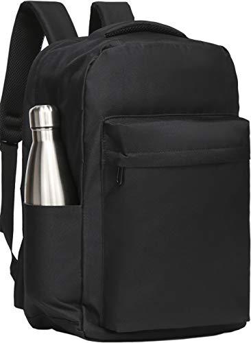Laptop Backpack 10 Pockets Waterproof 23L Anti Theft Bag Men Women Travel School Work Hiking College Black
