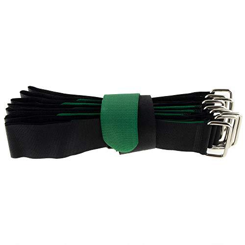 10 bridas de velcro para cables (600 x 38), color negro y...