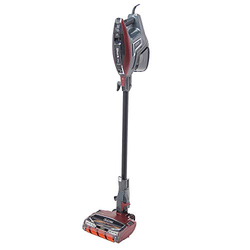 Shark ZS364QR Lightweight APEX DuoClean Self-Cleaning Quiet Handheld Corded Bagless Upright Stick Vacuum Cleaner, Red (Renewed)