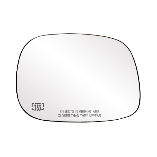 Fit System Passenger Side Heated Mirror Glass w/Backing Plate, Dodge Ram Pick-Up 1500, Ram 2500, 3500, 6 1/2' x 9' x 9 1/2' (w/o Towing pkg)