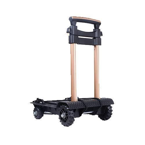 HYRL Carro Plegable Portable, Mini Carro de la aleación de Aluminio de...