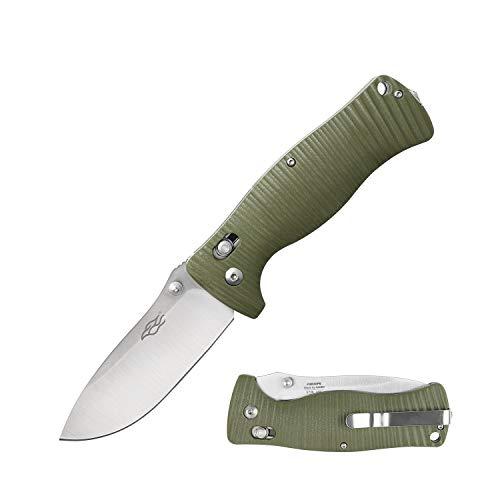 Ganzo Firebird Messer F720 Taschenmesser Outdoormesser, 440C Stahl, G-Lock, Plain, Farbe:grün