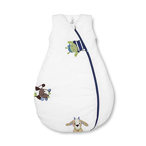 Sterntaler Schlafsack für Kleinkinder, Ganzjährig, Wärmeregulierung, Reißverschluss, Größe: 70, Wieslinge, Weiß