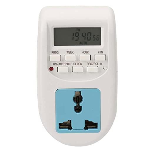 finebrand Interruptor Temporizador Programable del Zócalo del Enchufe Eléctrico Digital LCD 220v Luz 7 Día De Ahorro De Energía Antirrobo Al-06