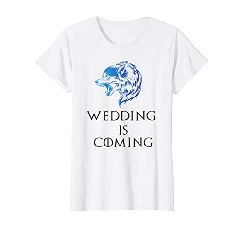 Womens Wedding Is Coming Bachelorette / Hen Party Wolf T Shirt