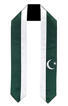 Pakistan Flag Graduation Sash/Stole International Study Abroad Adult Unisex