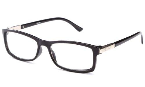 Newbee Fashion -'Chris' Unisex Squared Spring Hinge Fashion Celebrity Clear Lens Glasses