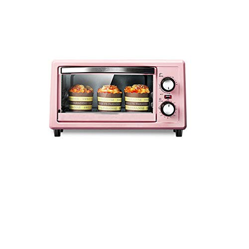 FRYH Horno De Cocción Pequeño Adecuado para Cocina Dormitorio Oficina 36 7 * 27 5 * 21 Cm 11 L,Pink