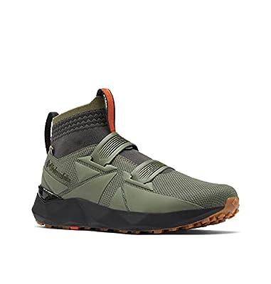 Columbia Men's Facet 45 Outdry Hiking Shoe, Stone Green/Autumn Orange, 8