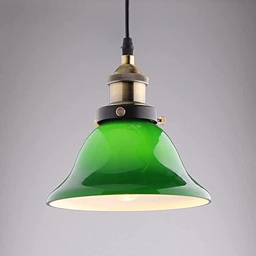FURNITURE Green Clear Glass Loft Hanging Lamps Vintage Metala Lights Fixture Edison E27 Ceiling Droplight Dinning Room Home Decoration Lighting/B/Diameter-27Cm