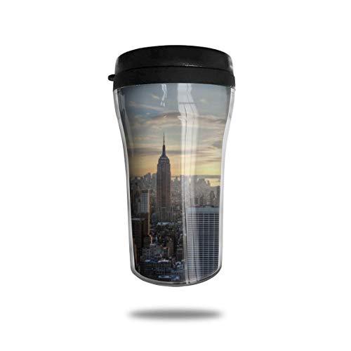 New Yorker Abend Glas Kaffeebecher Travel Mug Thermobecher Isolierbecher Doppelwandig Isolierung Kaffeetasse