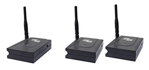 Ripetitore segnale TV 5,8 GHz, mod. Pascal Twins, 1TX+2RX (collegamenti via Scart), con ripetitore di telecomando