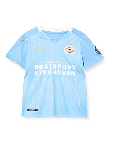 Puma Kinder PSV Away Shirt Replica Jr with Sponsor Trikot, Team Light Blue White, 152