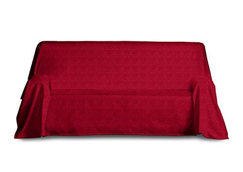 Blindecor Paula Colcha Multiusos, Acrílico, Rojo, 230 x 260 cm