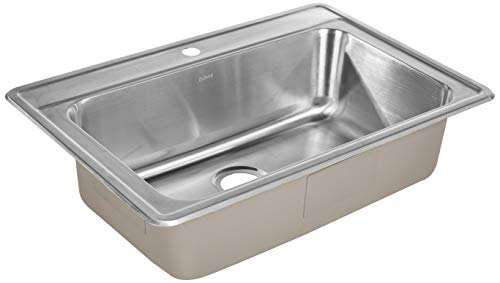 ZUHNE Drop In Kitchen, Bar and RV Stainless Steel Sink (33x22 Single...