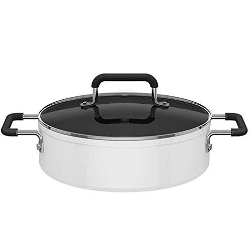 YWSZJ Cacerola, Cacerola Antiadherente for no Moldeada Sopa de Hierro Crisol de guisado Resistente a Altas temperaturas Cocina de inducción Universal