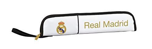 Safta 811954284, Real Madrid 19/20 Portaflautas Niños Unisex, Varios, 37x8x2