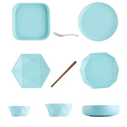 Ciotola in ceramica, Nordic Simple 2 persone Set ciotole in ceramica, creatività per la casa Matte Scrub Ciotole per cereali, lavastoviglie, microonde e forno-A