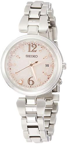 [セイコーウォッチ] 腕時計 ルキア ソーラー電波 ピンクベージュダイヤモンド入り文字盤 チタンモデル SSQV047 レディース シルバー