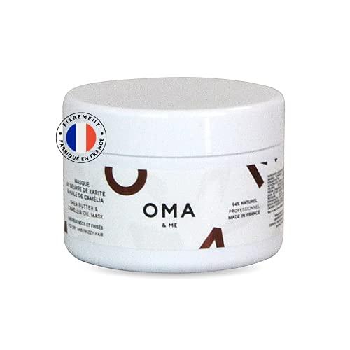 OMA & ME Masque Cheveux Secs - Masque Naturel au Beurre de Karité et à l'Huile de...