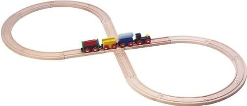 gro/ße Acht Spielmaus Holzeisenbahn Startset mit Lok und Wagen exclusiv, passend zu Brio, Eichhorn usw.