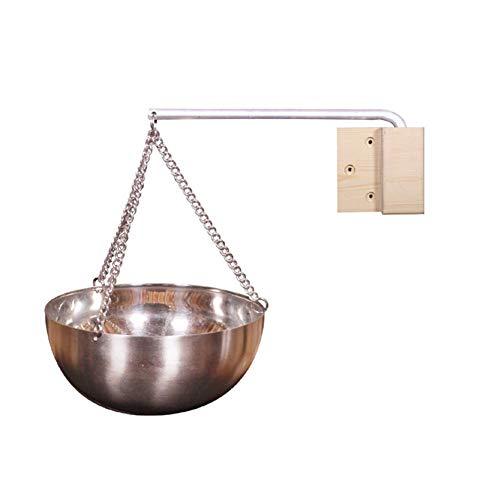 Stronrive Sauna Schüssel Edelstahl Sauna Verdampferschale Aromaöl Schale Saunaschale Aromatopf für Sauna und Spa