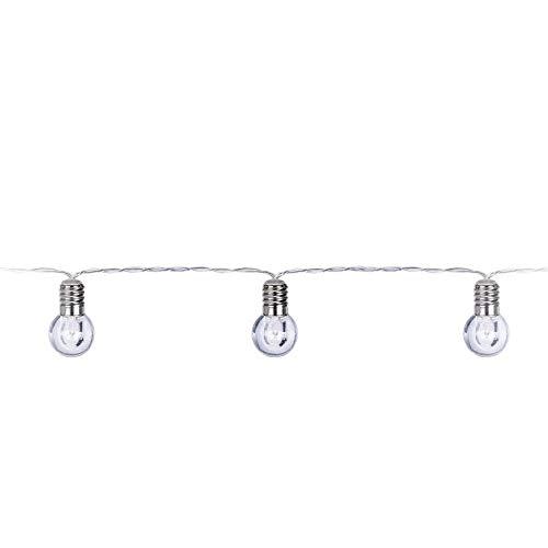 Cadena de luces LED con diseño de bombilla, transparente, 200 cm