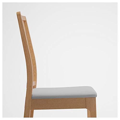 EKEDALEN/EKEDALEN Mesa y 2 sillas, roble, gris claro, 80/120 cm, resistente y fácil de cuidar. Conjuntos de comedor de hasta 2 plazas, mesas y escritorios, muebles respetuosos con el medio ambiente